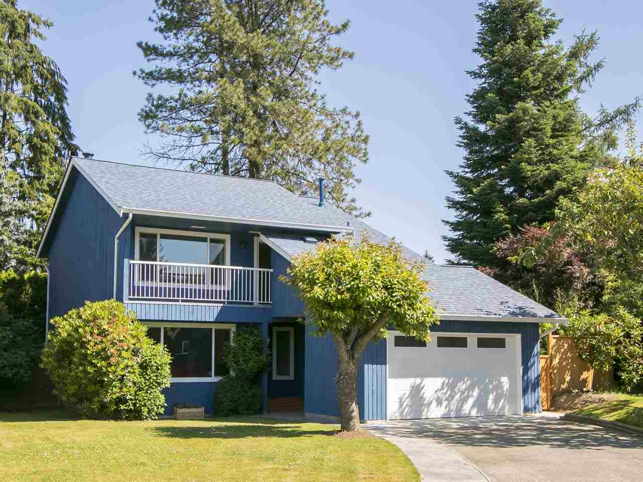 Fall in love with this bright and open 3 bed/2.5 bath home located on a quiet street in sunny Maple Ridge. Step into your home and relax in the large living room with cozy fireplace or cook and entertain in your gourmet kitchen with adjacent dining and family room. Huge picture windows allow for tons of light with patio door opening up to the large patio with even bigger backyard surrounded by trees for maximum privacy. On the 2nd level you find 2 ample sized bedrooms plus master bedroom with large closet and ensuite. Bonus: Newer roof and windows, new hotwater tank replaced in 2016 & brand new garage. Don't miss out on this stunning family home in a fantastic neighbourhood. OPEN HOUSE SAT & SUN, JULY 15 & 16, 2-4PM