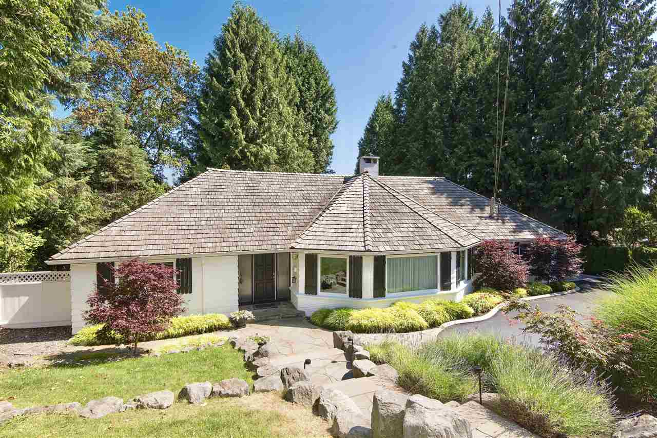 Situated in the heart of Caulfeild on a gorgeous sunfilled 1/3 acre property offering a spectacular child-friendly backyard, total privacy & pleasant ocean views is this beautifully maintained family residence. Extensively remodeled the home feels like NEW & offers approximately 2,700 sq ft on 2 levels, 3 bdrms including master w/spa like ensuite, a bright open floorplan w/spacious formal & informal entertainment areas, custom kitchen w/top appliances, breakfast bar, spacious eating area ? all opening out to the�sun-drenched�backyard, fabulous patio & BBQ centre. A stunning family home in one of West Vancouver?s most sought-after neighbourhoods just seconds to Caulfeild Village & schools.
