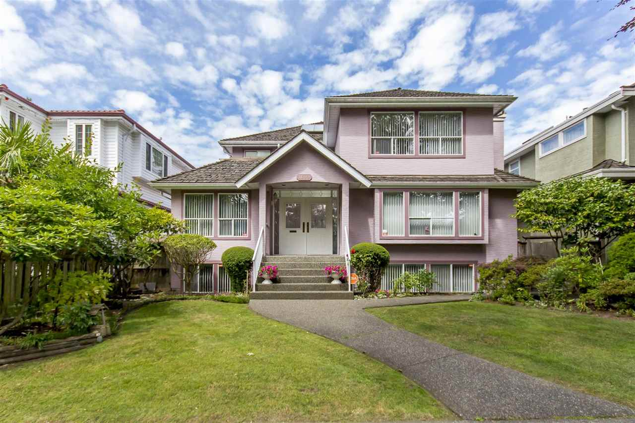 Centrally located in prestigious South Granville, this German built family home has been immaculately kept and cared for. The 47.6x116 = 5,526sf North/South facing property is on one of the most picturesque streets in S.G. The house is 3321 SF w/formal living rm, dining rm, gourmet kitchen, family rm, an extra office w/full bath on the main flr; 4 bdrms, 3 full baths on the upper level; and a huge rec rm and 1 extra bdrm in the basement. A lot of skylights. A large deck and a triple car garage at the back. Superb location - easy access to YVR, DT, UBC & Granville shopping.