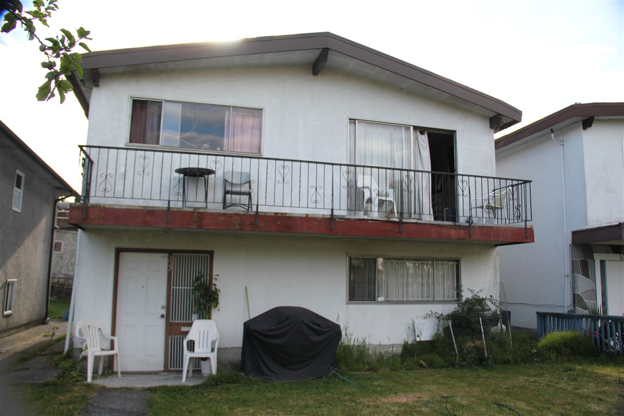 Great location. Buy and hold as investment, great potential home on 33 X 120 lot. 3 bedroom up and two bedroom down. Spacious and bright with big windows. School, transit and easy access to Hwy. DON'T DISTURB TENANTS. All measurement approximate. Buyer to verify if important. Property needs TLC.