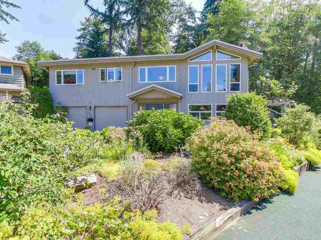 This 4 bedroom, 3 bathroom, renovated, 2740 sq.ft. family home sits on a beautifully landscaped 9,900 sq.ft. East facing cul-de-sac in Blueridge. Updates include: roof, furnace, hot water tank, windows, window coverings, kitchen with S/S appliances. Adjoining the kitchen is a bright family room with French doors leading to the covered deck plus an extended deck to enjoy the sun. Excellent suite potential down with bedroom, laundry, recreation room, and bathroom. 3 car garage(1 tandem and one single). Shed in the Backyard with electrical supply (could be play house , garden shed or man cave). Close to schools, parks, trails, Capilano Univ., and shopping.