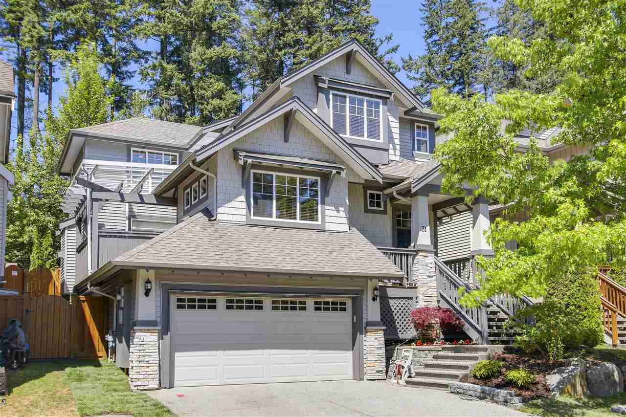 "One of the BEST family neighborhoods in Heritage Woods! This amazing home has been recently updated to offer you move in ready convenience. Great OPEN floor plan w/bonus DEN on main. Some of the Feats inc; hand scraped maple HW flrs, custom closet built-ins, newer int/ext paint, A/C, Hot Tub & custom light fixts. Sit back & enjoy your GREENBELT backyard w/newgrass while sitting under the awnings OR relax in the covered Hot Tub. Be INSPIRED in the new GOURMET Kitch complete w/solid Maple Wood Cabinets, Quartz counters, Fireclay farmhouse sink, Jenn-air S/S appls, a Pot Filler & tile backsplash. Retreat Up to the oversized Mstr Bdrm w/vaulted ceilings, walk-in closet & 5 pc ensuite. BSMT offers Ultimate in entertainment w/a media Rm w/a 100"" screen, Sony projector & multi-tiered seating & w/4 Pc Bath, FLEX Rm (could be BDRM) a Bar w/sink & fridge ~ could be inlaw suite. Prime location on level street: great for bikes, street hockey or basketball. Fabulous Lifestyle at the Top!"