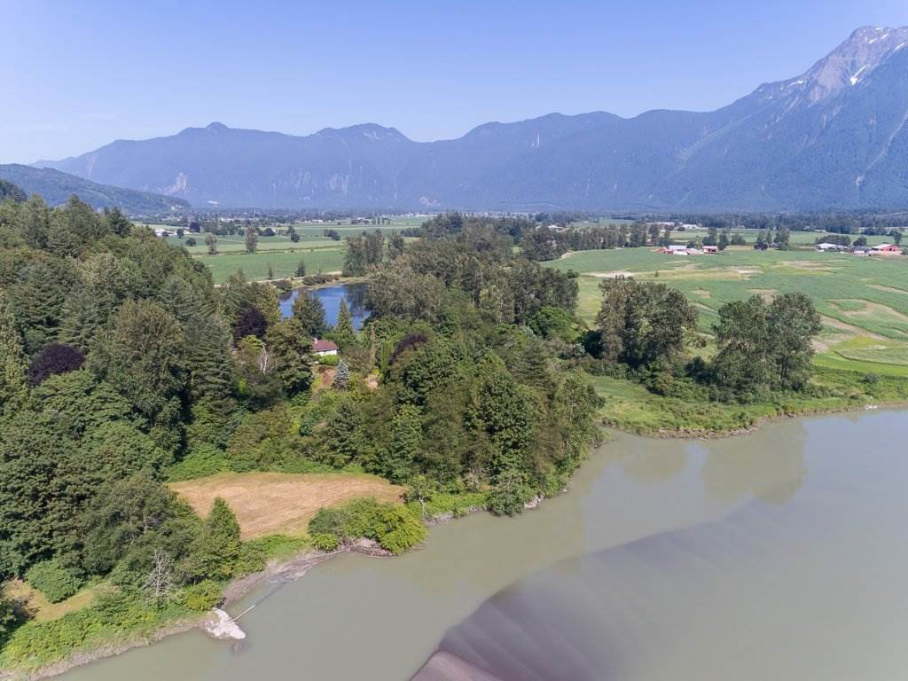 150 WATERFRONT acres!!! NOT IN THE ALR. Huge development potential. Kufena Estates on Hopyard Hill. 3 separate titles with 1km of Fraser River frontage. This breathtaking property has views of Cheam all the way to Mount Baker. Walk the km's of well kept up slash trails, explore the old gold mine, view the towering rock quarries, or pitch a tent in the meadow. This property is a dream come true. The house is perched up looking out over the beautiful meadows, mighty Fraser River and the Fraser Valley. It would make a perfect building site for your dream home, long term hold, camp grounds, fishing lodge, wedding business etc.... the opportunities are endless. Call to book a viewing today.