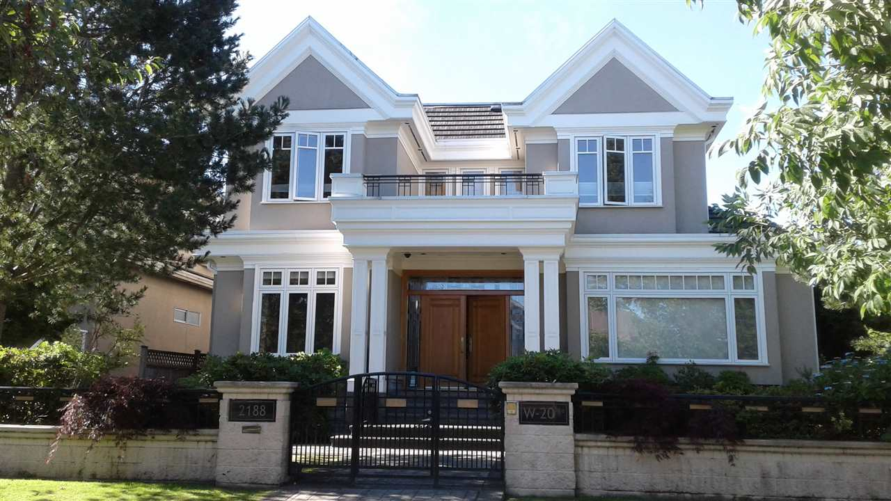 Truly one of the best designed and elegant houses in desired Arbutus Area, PANORAMIC VIEW from the roof deck, excellent layout offering 6 bedrooms & den. 6 1/2 bathrooms, high ceiling with extensive use of granite and hardwood floor throughout the foyer and living room, tastefully designed fireplace, huge dream kitchen with granite counter top plus Chinese kitchen, home theater, built-in sound system, sauna, steam shower, central air-condition, radiant heat, fully gated with beautiful stone, nicely done landscaping with fish pond and fountain, four car garage. Close to UBC, Prince of Wales School, York House, Little Flower and Trafalgar Elementary School.