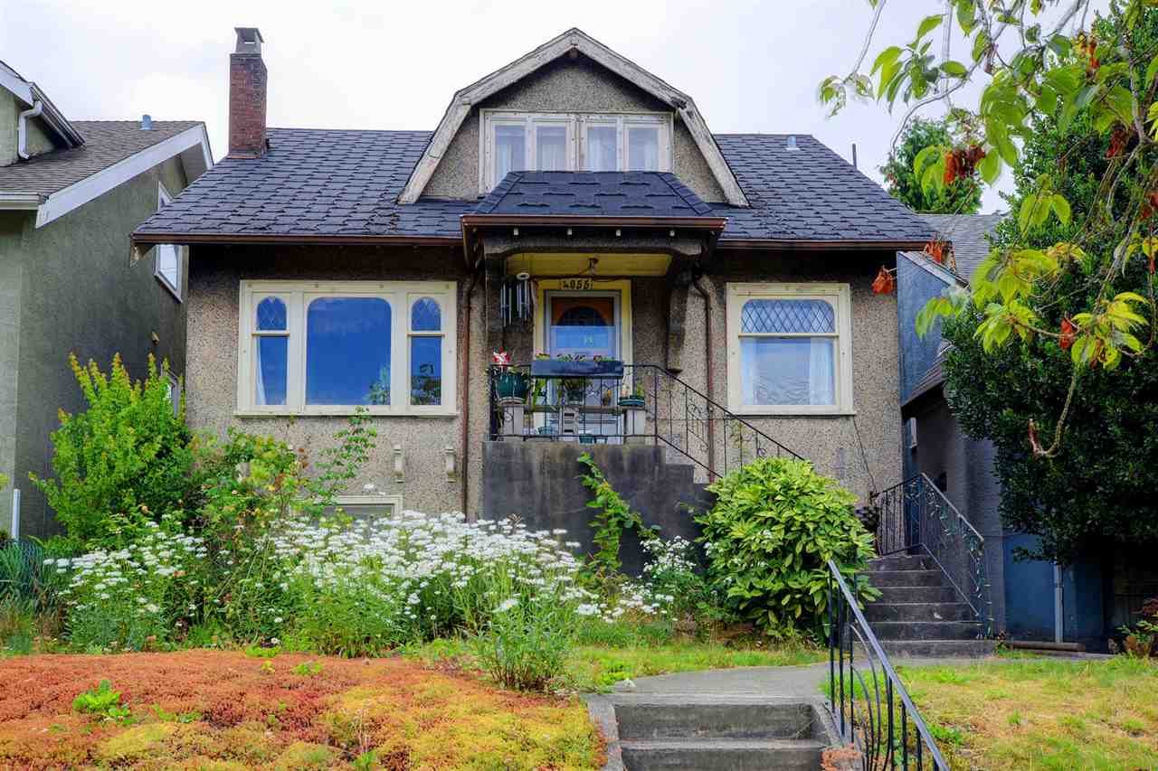 """Dunbar Classic Character Home. Situated in the heart of Dunbar. Being sold """"AS IS, WHERE IS"""". RS-5 zoning/33x110 lot. Original HW inlay flooring, 2 large bdrms up, 1 bdrm on main floor. Downstairs has own entry is partially finished with large rec room & a den/bedroom. 2 bathrooms (1 on main floor/1 down). Single car garage with lane access. West facing rear yard. On the high side of Dunbar. Enjoy a vibrant lifestyle just steps to Dunbar's quaint shops, eateries, parks & transit. UBC & downtown minutes away by bus. Located inside well known Lord Kitchener Elementary & Lord Byng Secondary school districts & French Immersion schools. Renovate, hold or . . . bring your ideas. It's a great lot w/loads of potential."""