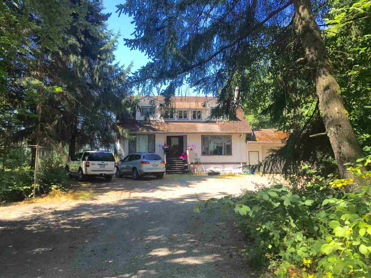 Investors Alert!! Opportunity Knocks! Great older home on 2.38 acres of rare development land located in one of the most desirable area of Aldergrove. City of Langley has approved and Adopted this property in new OCP for subdivision or residential lots! Don't let this pass you by, call now!