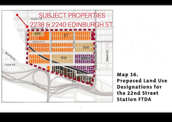 PRIME INVESTMENT/DEVELOPMENT OPPORTUNITY! 12000 SQUARE FOOT PARCEL WITH 100' FRONTAGE! This property is being sold in conjunction with the neighbouring property (2240 Edinburgh St). This land assembly falls within the RT Infill Townhouses/Rowhouses zoning as per the City of New Westminister's Official Community Plan. Now is the time to invest in the Connaught Heights area with the City proposing higher density, including high rise/low rise condo buildings. Hold now and earn good rental income while OCP finalizes and property is ready for development. Contact us now for the information package.