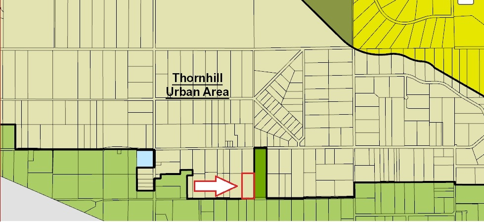 4.77 Acres in THORNHILL URBAN RESERVE area for future development. NOT IN ALR! 2 homes on this property. 2 storey+full basement w/walk-out basement + cabin which are separately rented. House rented for $1350.00 & cabin $550.00 per month, total income $1900 per month. The houses have separate addresses (25959 and 25979). 25979 - measurements are in the listing. NO CREEKS on property.