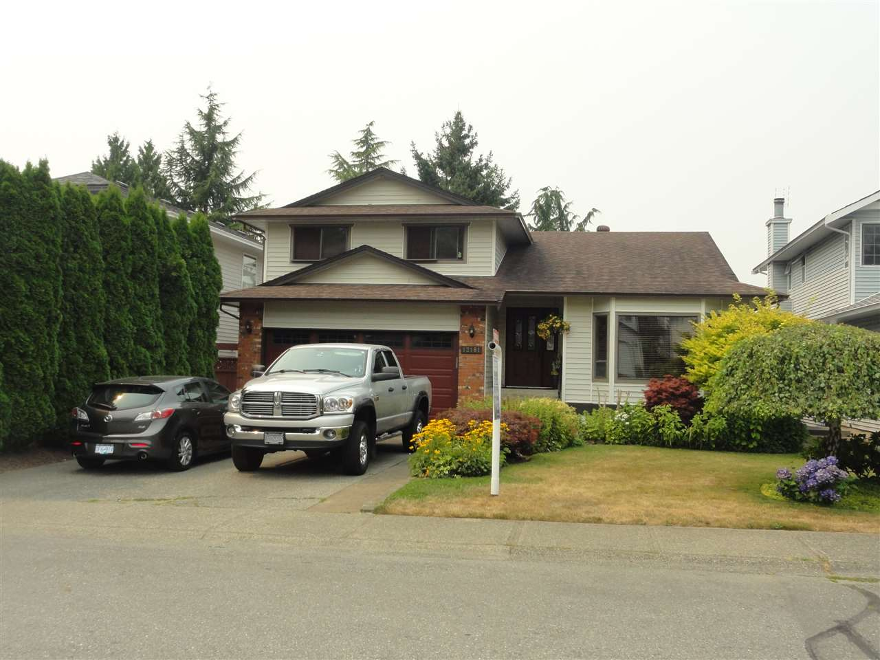 WESTSIDE split level with basement, this area does not come up for often, home features sunken living room with gas feature F/P adjoining dining area. Spacious oak/granite kitchen with eating area and access to covered 15x16 deck, down to the family room which has approved woodstove and access to 19x15 deck, 3 pc bathroom and laundry on this level as well. Up has 3 bedrooms 5 pc main bath master has a 3 pc ensuite and W/I closet bathroom updates 3 years ago, basement is waiting for your ideas has separate entrance (no stairs), French doors to a covered 16x14 patio. 5 crawl for storage, backyard is fenced with 11x9 shed and very private. Great family area close to all levels of schools, shopping and freeway access very close.