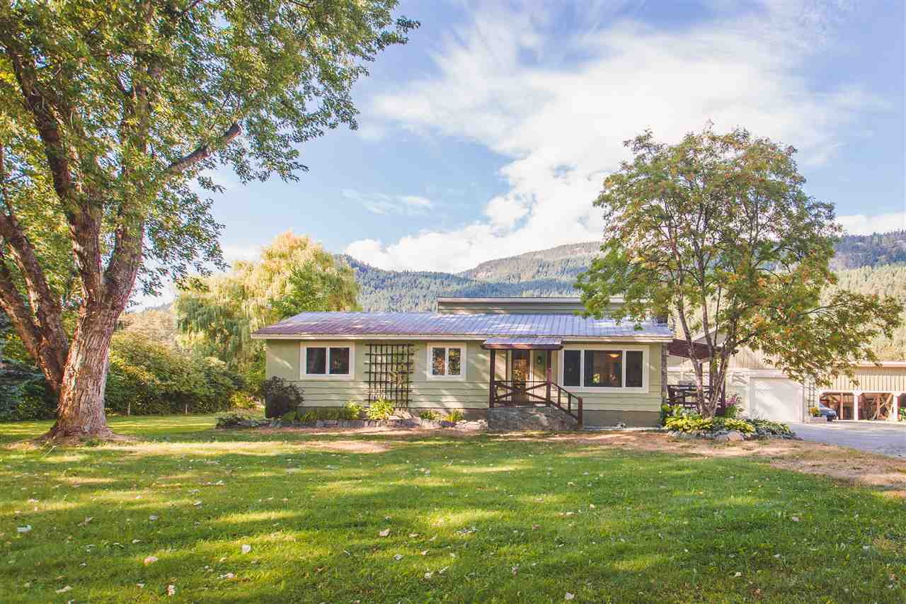 Time for a new home with outbuildings & 6.28 acres on a quiet dead end street with huge hedge & plenty of trees for privacy? One of the sunniest spots in the valley with very little wind facing Mt Currie & minutes to town by car or walking/biking trails. Nicely renovated 3 bed/2 bath plus office, laundry, dining room & wood stove. 1950 sq ft awesome self contained suite, huge family room with half in garage/shop. 724 sq ft 4 bay shed plus 265 sq ft greenhouse/chicken coop. Huge gazebo sitting area plus outdoor bar all surrounded by gorgeous irrigated flower beds plus a hot tub. Easy access to the Lillooet river through your own property. What more could you want? A very special property is waiting for you to call home. Come see this neat as a pin loved home today!