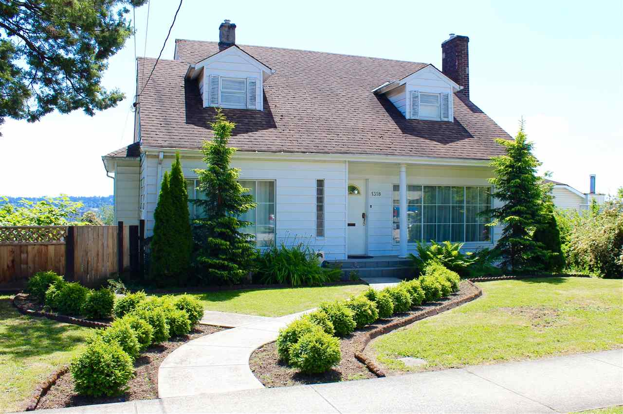 Amazing opportunities abound for restoring this charming, 3 level character home back to it?s grandeur. It boasts many wonderful features including built ins, leaded glass french doors, mouldings, 2 gas fireplaces, hardwood floors in the spacious living room and dining room . Spectacular unobstructed, sweeping views off the back deck of Majestic Mount Baker and The Fraser River take your breath away. The walkout basement with potential for a suite leads you out to the patio, pool deck and gardens. The art/craft room above the 2 car detached garage is just waiting for the hobby enthusiast. This property has potential for rezoning and lane way housing could be an option as well. Great location to schools, shopping , parks and skytrain .
