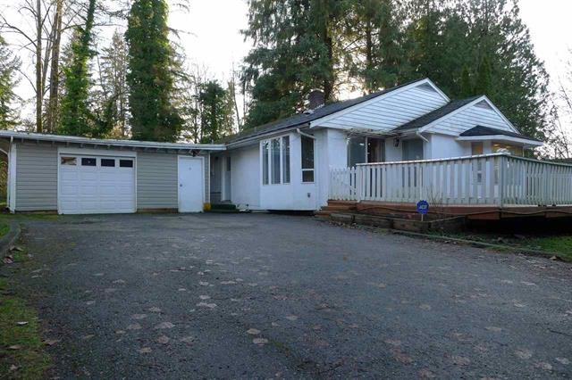 Investor Alert! Opportunity for fixer-uper. Huge lot (over16,000 sf). Surrounded by greenbelt and trees in front yard provides great privacy. Electrical and plumbing rough-in in place for additional kitchen in basement for your mortgage helper suite. Minutes to the shops and Maple Ridge downtown and cityhall!! Bring all your ideas and make this your lovely home. OPEN HOUSE: Sat (16th) 11-1 pm