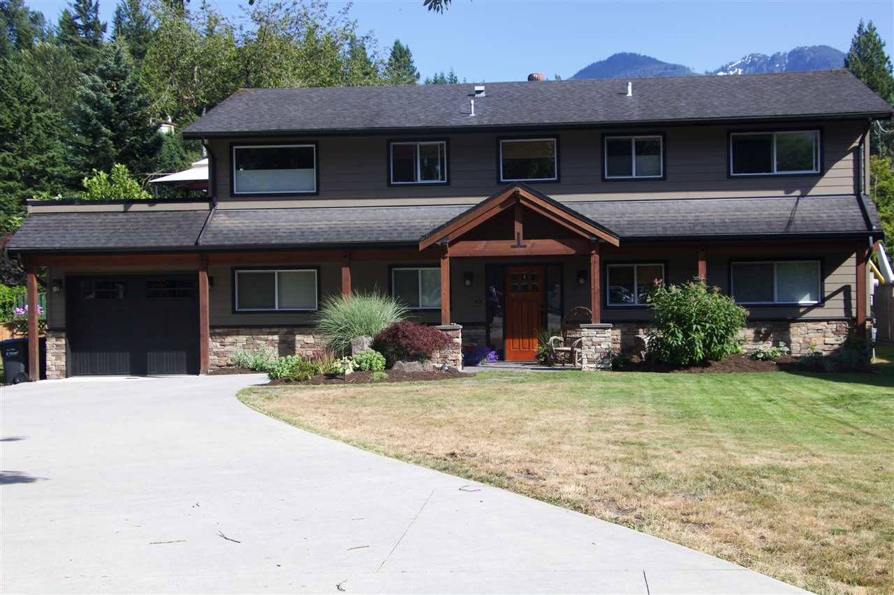 STUNNING STREET APPEAL in a quiet, mature cul-de-sac in the best location of Garibaldi Estates.  Entertain friends on a huge over-sized private deck surrounded by greenery and mountains.  Walking distance to Pat Goode Park, bike trails, shops, restaurants and school.  Kids will love the outdoor space with large yards front and back.  Five bedroom, three bathroom 2442 square foot with a legal optional one bedroom suite.  Main bathroom has steam shower and whirlpool air tub. This is a brilliant gem and move in ready.