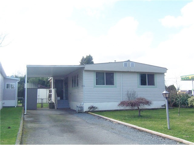 Paradise Park! 2 Bedrooms plus a den in this very well kept manufactured home in an excellent park in Abbotsford. Updated Kitchen and newer flooring with almost new appliances. 2 garden sheds, fenced back yard. Small pets allowed in this 55 plus park. Call anytime.