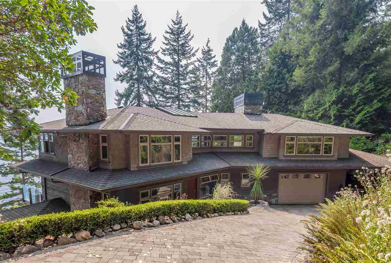 The Stunning WATERFRONT property with over 310' of frontage offers LUXURY, PRIVACY & TRANQUILITY. Enjoy the Magnificent VIEWS of Passage Island, Vancouver & Mountains from all 3 levels. The paved stone driveway & lush garden lead to this Meticulously cared for & completely renovated contemporary home. The open concept & well-planned indoor/outdoor spaces (close to 2000 sqft) are optimized for the intimate gatherings & entertaining. The Elegance is reflected in the details & finishes including the Luxurious master suite & a Spa-like en-suite, Custom built-ins, Gourmet Chef?s kitchen, Exquisite living/dining rooms w/double height ceiling, built-in speakers, Floor to Ceiling Windows, Heated floors, hot-tub Jacuzzi, built-in vacuum, irrigation system & more...Showings by appointment only.