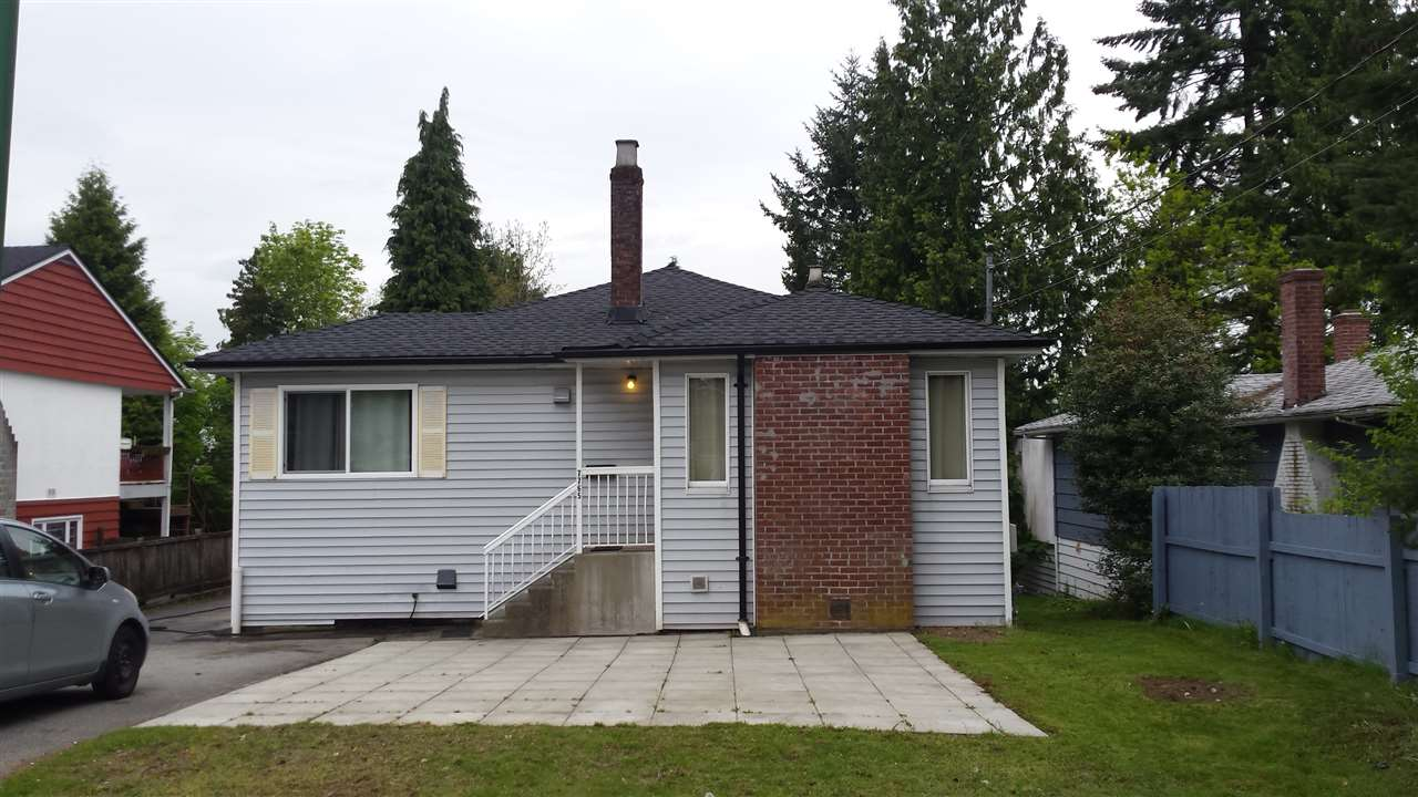 Excellent large lot on quiet street , 50' x 207' , with a good solid well cared for property+ revenue, until time to build. Good long term tenants in 1 side. Tenant paying $1352/mo and other side was $1540/mo . Roof, siding, windows all in great shape. Only 1 smaller tree on rear of property makes for an easy build. Lane access allows for detached garage off lane as well. Letter from the city of Burnaby indicates any new build can only be SFD.
