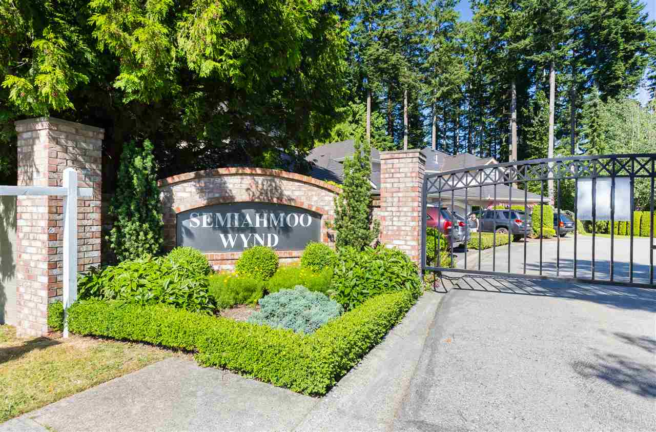 "Rarely available in the popular "" Semiahmoo Wynd"", a gated community of only 43 homes on a Bare Land Strata that includes water, sewer, and common area maintenance. Friendly and safe community close to Peninsula Village, recreation center, forrest, Sunnyside park, and with easy access to public transit that takes you to Vancouver. House featuring big windows providing lots of sunlights throughout. Functional lay out featuring open concept family room and kitchen with newly installed hardwood floor and surveillance. Spacious master bedroom with ensuite on the main floor and two more bedrooms on second floor. A full unfinished basement perfect for future addition with your own creative ideas. Bonus private yard, 2 pets allowed Open House SAT Oct/14, SUN Oct/15 2-4pm"