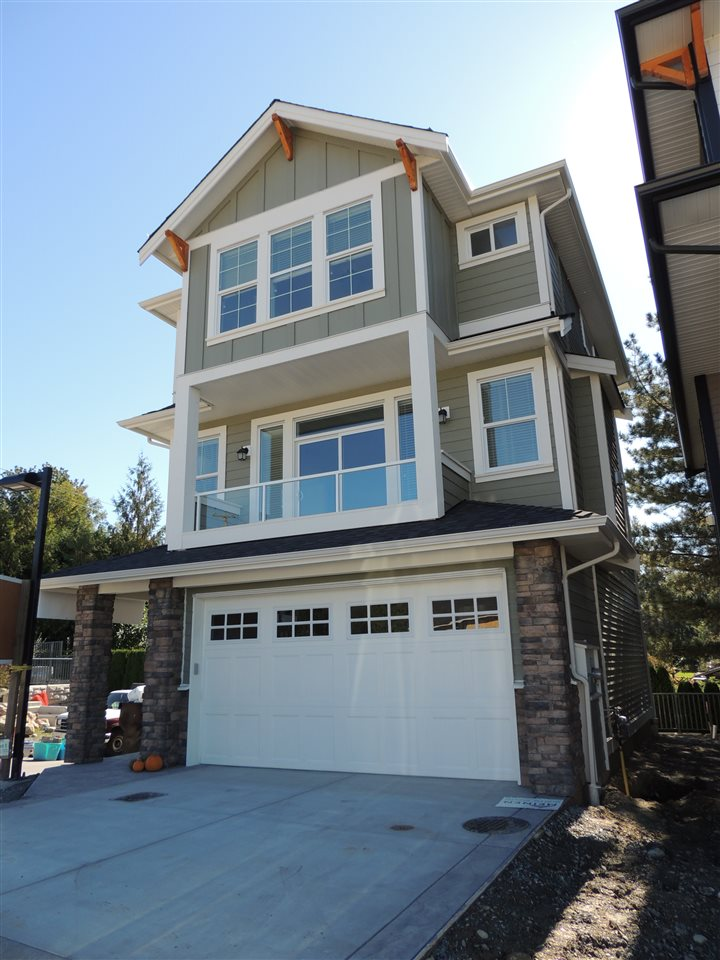 Sunspring Estates - Brand new subdivision East Abbotsford! A good mix of different sized low maintenance lots. Luxurious finishing's throughout. Basement entry home featuring it's large foyer. Open main level with flow between kitchen, dining, and living spaces. Designer kitchen featuring large island, eating bar, pantry, and quartz counter tops. Cozy gas fireplace in the living room, great for the fall! Master bedroom upstairs offers walk-in closet and a 4-piece ensuite. Great covered sundeck off living room. This property is exempt from the 15% Foreign Buyers Tax!