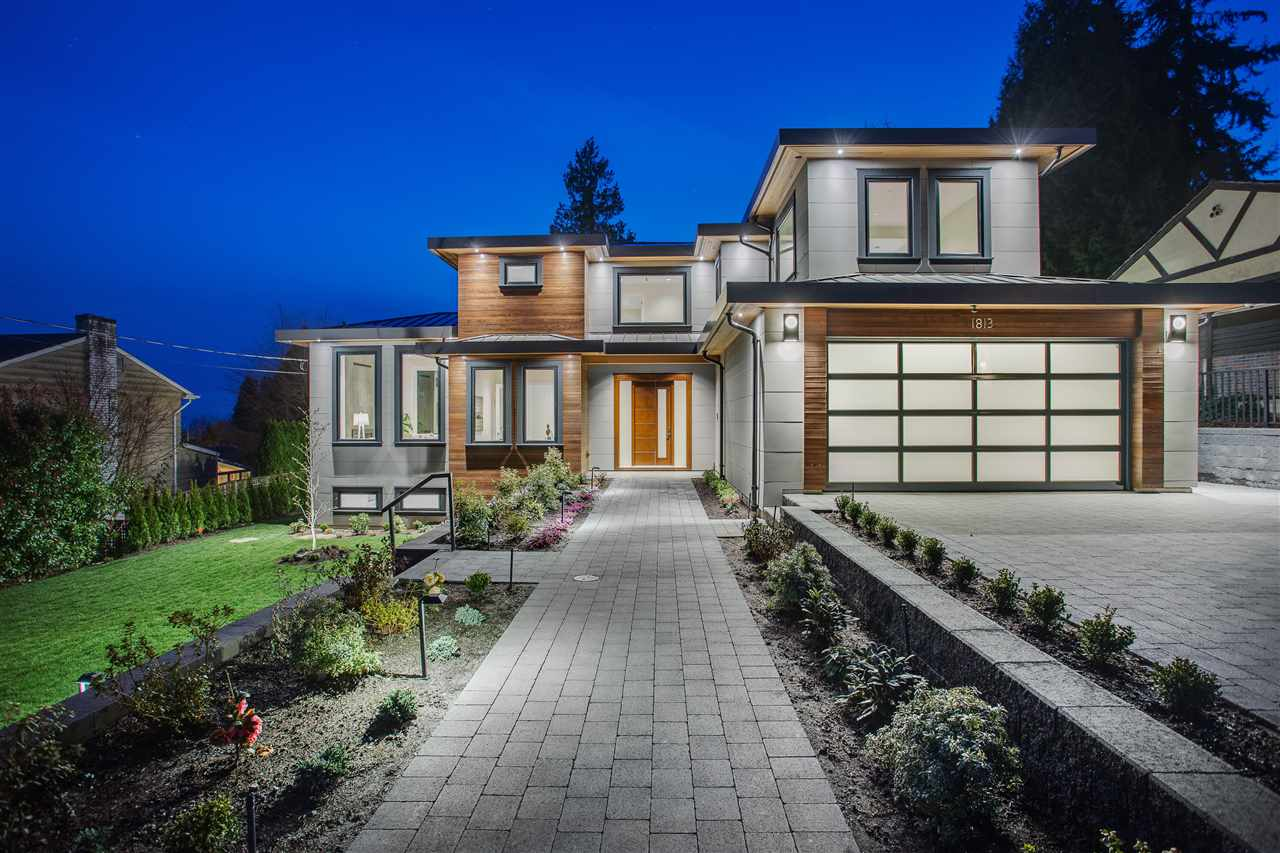WELCOME TO 1813 St. Denis in beautiful CENTRAL Ambleside, West Vancouver! Minutes from everything life has to offer - Shops, Beach, Collingwood/ Mulgrave/ Pauline Johnson schools.  This 6000 sf INCREDIBLY stunning CONTEMPORARY on a 12,000 sf LOT is simply LUXURIOUS. The MAIN floor is perfectly designed with almost 2400 square feet! High end EVERYTHING. The DRAMA that the home creates on the main floor is a dream come true. 3 GREAT sized bedrooms upstairs with 2 down (one suited) PLUS 1 Bedroom detached heated room in the backyard totalling 6 BEDS. The downstairs is PERFECT. Amazing OPEN CONCEPT and great THEATRE room. Having a 12,000 sq foot lot creates an incredible backyard atmosphere with FANTASTIC hot tub to RELAX in while taking in LIFE. Very QUIET street and CENTRAL to EVERYTHING!