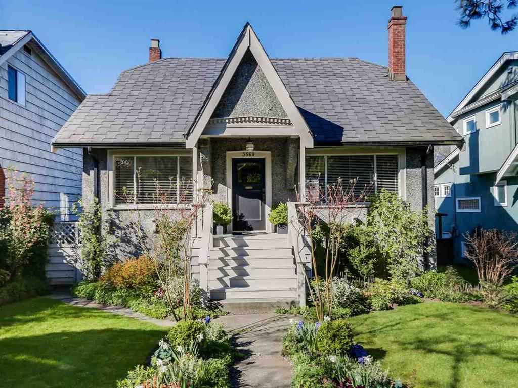 Excellent opportunity to own a charming family home in prestigious Dunbar on a South facing large 46' x 122' lot with North Shore Mountain views. The home has retained much of the original character such as oak inlay floors, wood burning fireplace, fir floors with many updates in the last few years: hot water tank, high efficiency furnace, drain tiles, windows, deck, floors, washer & dryer, newer kitchen and bathrooms. One block from Lord Kitchener, close to Lord Byng, St George's Crofton House with West Point Grey Academy & UBC nearby. Steps to Dunbar shopping & restaurants, Dunbar community Centre, transit, and a short drive to beaches and golf courses. Good rental income. Open house Feb. 5 (Sun)  2 - 4pm.
