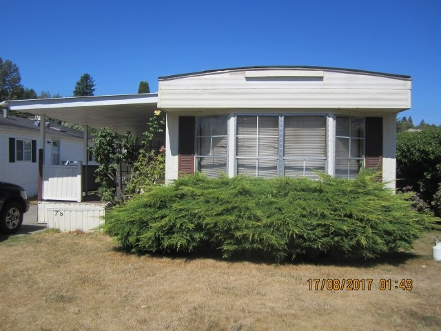 Mobile Home with huge covered deck in a great location in central Abbotsford, close to all amenities. 3 bedrooms with another room off the deck. Loads of space. Separate storage shed as well. Nice clean park. Call for showings.