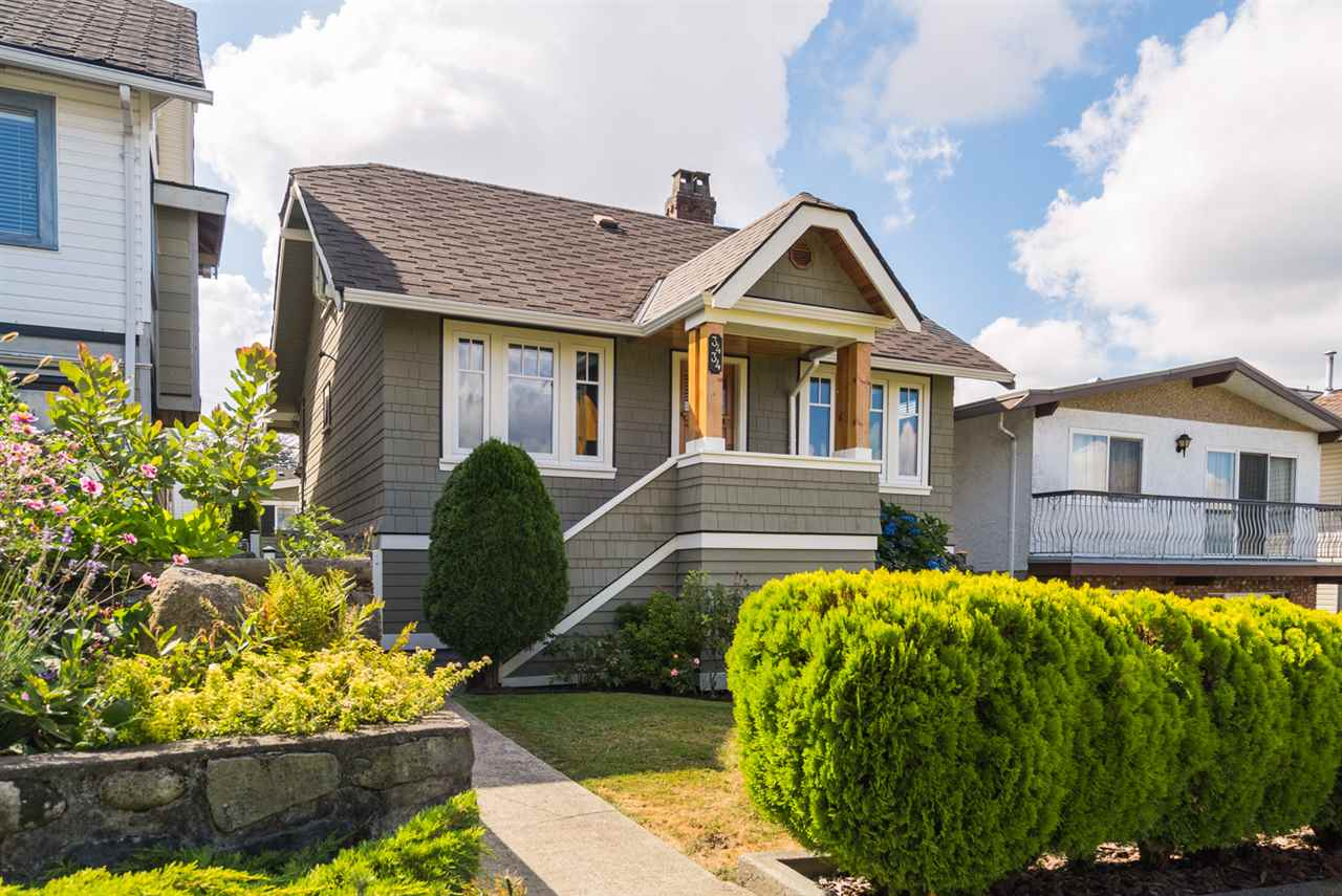 3434 Dundas St, Vancouver. Beautiful 3 level character home maintained and looked after in Vancouver Heights with south facing back yard and amazing views of the city, mountains & water. It features LR with HW Oak floors & floor to ceiling fire place & updated kitchen. 2 bedrooms on main floor & 4 piece bathroom. Upstairs has large master suite. There is a  suite ready for rental income if needed or keep as a large recreation or media room for the family. Unique wine cellar cantina.  Lots of updates:  2014 windows replaced, Deck replaced in 2012, Furnace & Hot Water Tank replaced in 2012. Single Car Garage & Covered Parking & Storage Shed.
