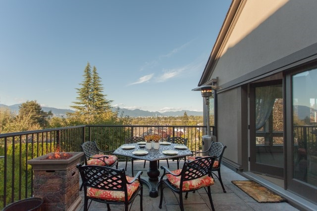 Spectacular city & mountain views from all 4 levels in Quilchena!  It was completely renovated in 2016.  Lots of natural light from overhead skylights & windows come into every area. Living & dining rooms open to an outdoor entertainment patio where you can enjoy city views.  Only master bdrm & office on top level.  3 bdrms on lower floor.  All bdrms with views! Basement features recreation room, media room & large wine room.  Just 7-10 mins walk to Prince of Wales Secondary, Arbutus shopping, Trafalgar Elementary, bus stop & parks.  Easy access to W 41st / W 4th shopping street, UBC etc.
