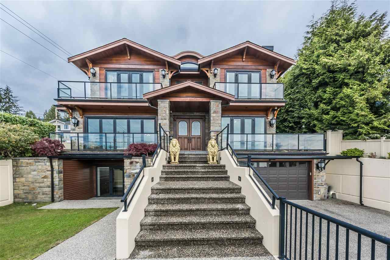 Amazing panoramic city and Burrard Inlet 180 degree views! This gorgeous home sits on a sunny/South corner lot - 8974 SF (78.47x122.51). Built in 2011, 4533 SF luxurious living area with the highest quality materials throughout. Total 6 bedrooms & 7 bath, 4 spacious bedrooms on the upper level. Downstairs is a media room, sauna, wet bar & 2 bedrooms. Hardwood floors, original crown moulding, marble mantle, radiant heat, air conditioning, HRV, security system & much more. Top School catchment: Irwin Park Elementary and West Vancouver Secondary School. Impressive from the moment you enter this property. Open on Sat & Sunday 2-4 pm, Oct 14th & 15th.
