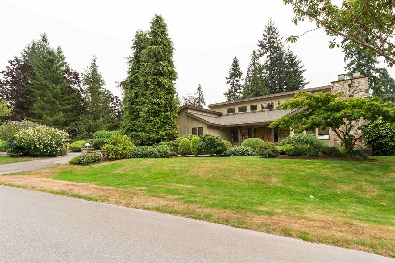 "Wonderful property in prestigious "" Woodshire Park"".First time on the market in 28 yrs. Solid custom built 4 b/r & den rancher with vaulted ceilings thruout, and very spacious rooms. Excellent floorplan .Lovely solarium.NEW ROOF 2015, 50 yr shingle warranty. New hot water tank, July 2017. Hot water heat .Master B/R has huge WI Closet, sauna in bathroom with outside access, ideal for future pool. Large garage has storage room and space for workshop.Circular driveway in front, RV parking by the garages. Beautiful , private gardens and lawns . Excellent family neighbourhood close to Chantrell Creek Elem and Elgin High Schools. Showings 11 am to 4 pm only. 24 hrs notice to show pls."