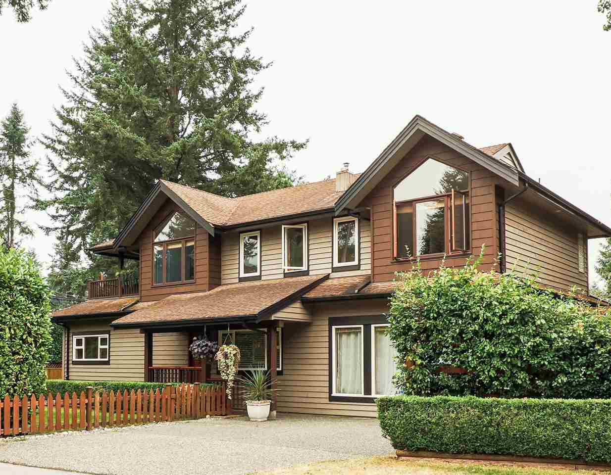 Updated craftsman home in family friendly Blueridge! Feat 3 beds, 3 baths, & 2,600 sq/ft of living space. Tastefully renovated in 2013, incl. an elegant kitchen w/ quartz counters, S/S appliances, & heated tile floors; adjacent dining room w/ bar addition; & 2 updated baths. Completing the main is a living room w/ gas fireplace & original oak H/W floors, large fam-room (or 4th bed), laundry & 2 beds. French doors lead to a 800 sq/ft deck feat. gazebo, gas hook-up & hot tub - fantastic for entertaining! Upper level added in 2001 & includes master bdrm w/ vaulted ceiling, WIC & 5-pc ensuite; office w/balcony; & terrific great room. Offering a fully private, hedged & fenced yard, situated on a 7,500 sq/ft corner lot on a quiet cul-de-sac. Schools, transit & an abundance of trails steps away!