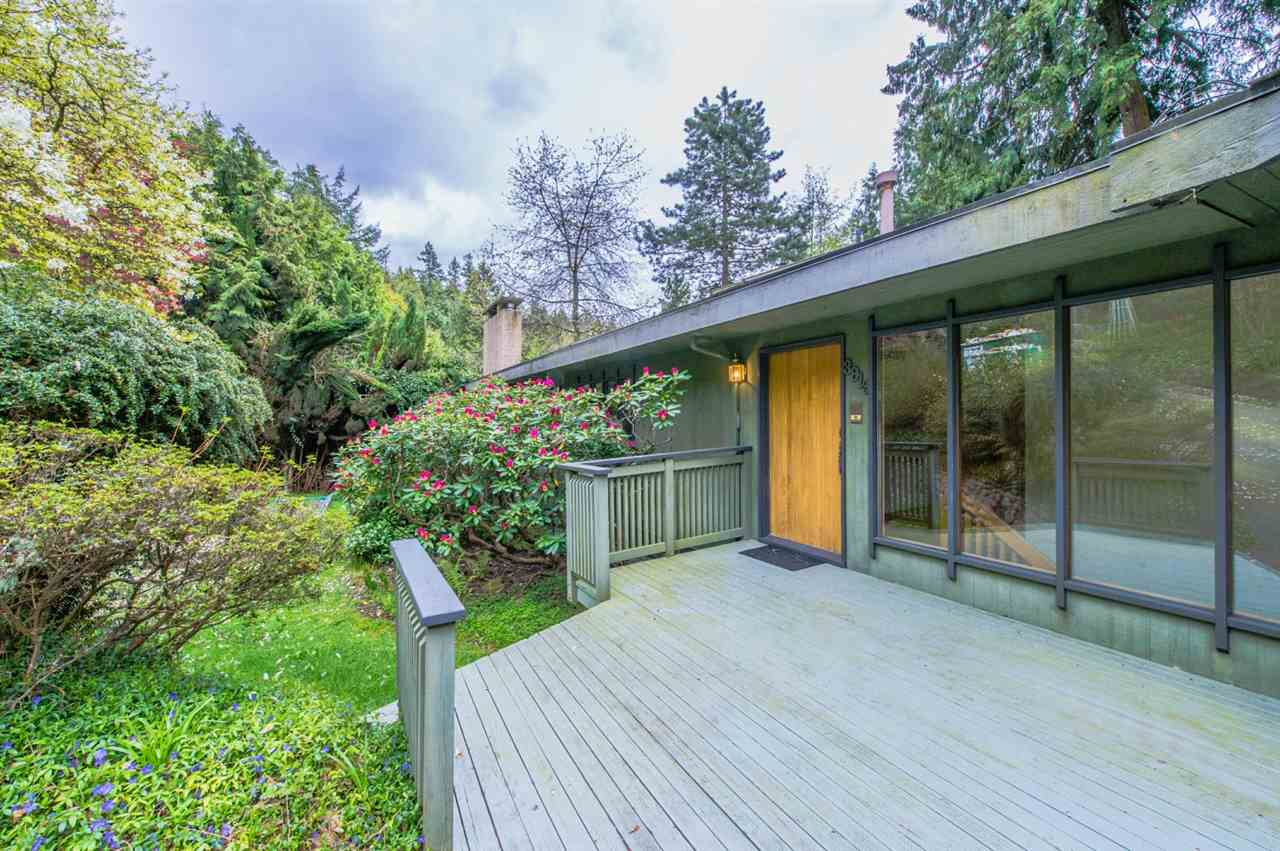 Nestled on a 12,300 square foot lot, this TOTALLY WORKABLE, 3300 square foot 4 bedroom and den, 3 bathroom two floor BAYRIDGE HOME is perfectly set beside a beautiful creek with OCEAN VIEW - Great low traffic area for lots of peaceful walks and enjoying life. Other features include 2 gas fireplaces, 4 year old roof, new skylights, newer driveway and double carport. GREAT PRICE for a home in West Van with OCEAN VIEWS!! WESTBAY ELEMENTARY SCHOOL CATCHMENT.