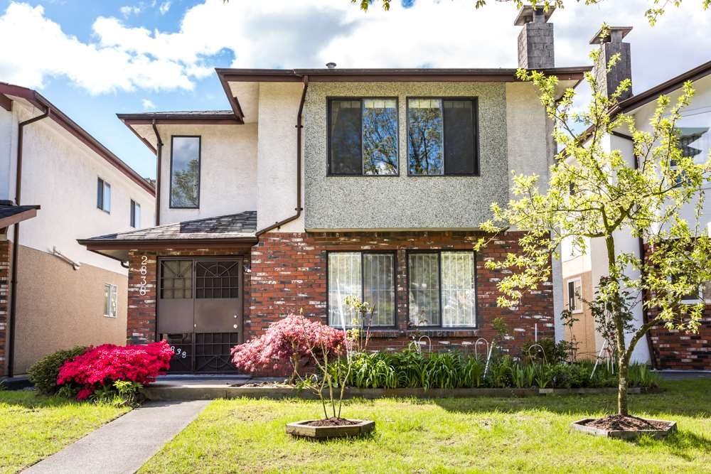 Beautifully maintained Vancouver Special home centrally located close to shops, restaurants, schools, parks, and transits. Easy to maintain laminated floors and functional layout throughout. Lovely kitchen with newer counters and backsplash. Spacious eating area, bedrooms and bathrooms. Basement suites offer excellent mortgage helper options. Don't miss the chance to own this property in a prime area!