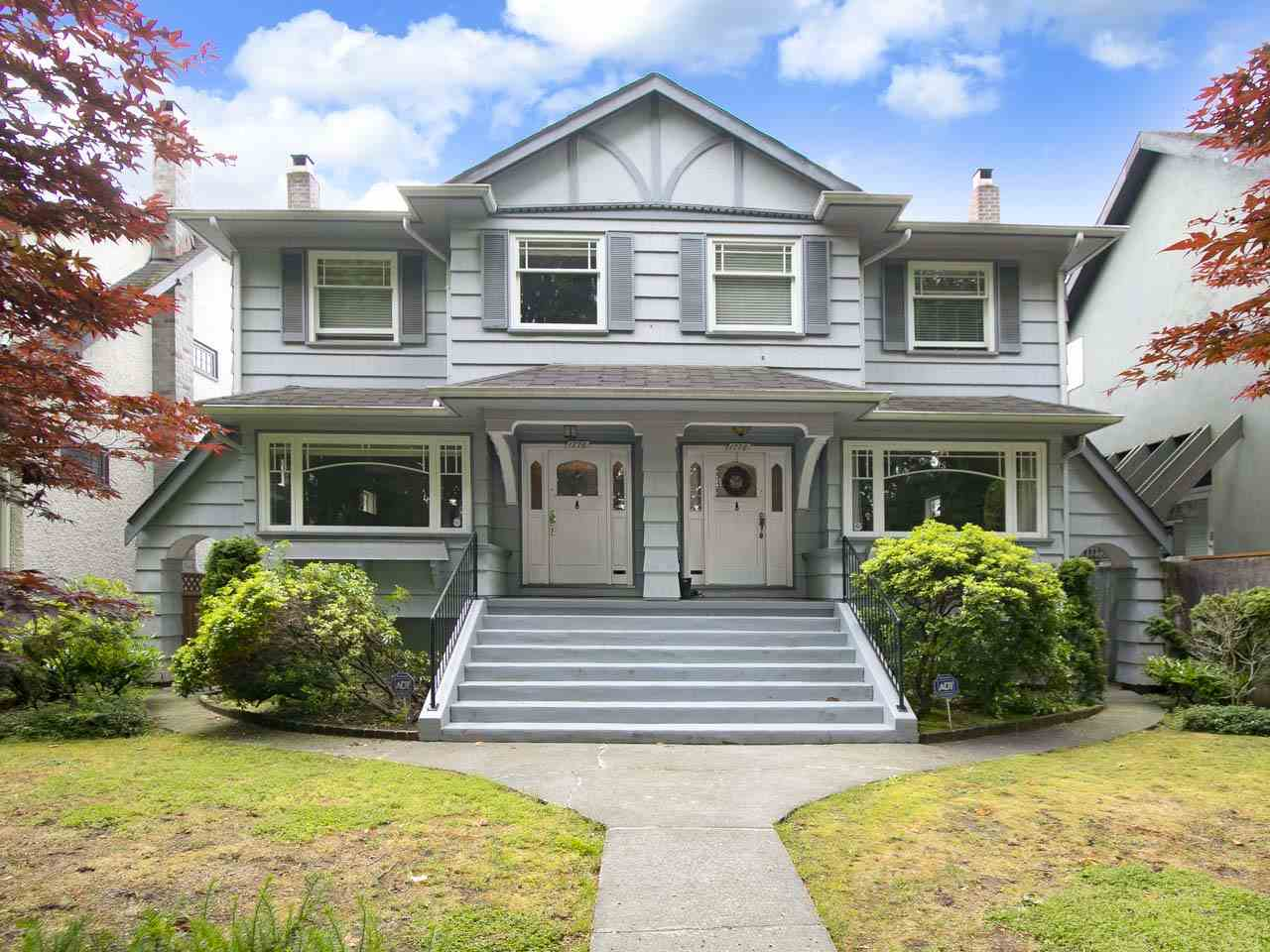 Unique opportunity to own a 50? lot with RT-5 zoning in Lower Shaughnessy.  This side by side duplex has two dwelling units.  Both units are over 2,200 sf and have large principle rooms on the main floor, high ceilings and plenty of natural light.  Each side has three bedrooms up and one bathroom.  The lower levels are fully finished with more bedrooms, bathroom and laundry.  One side has been renovated and the other side is ripe for renovation.   A great holding property with income and the ability to build a new duplex.