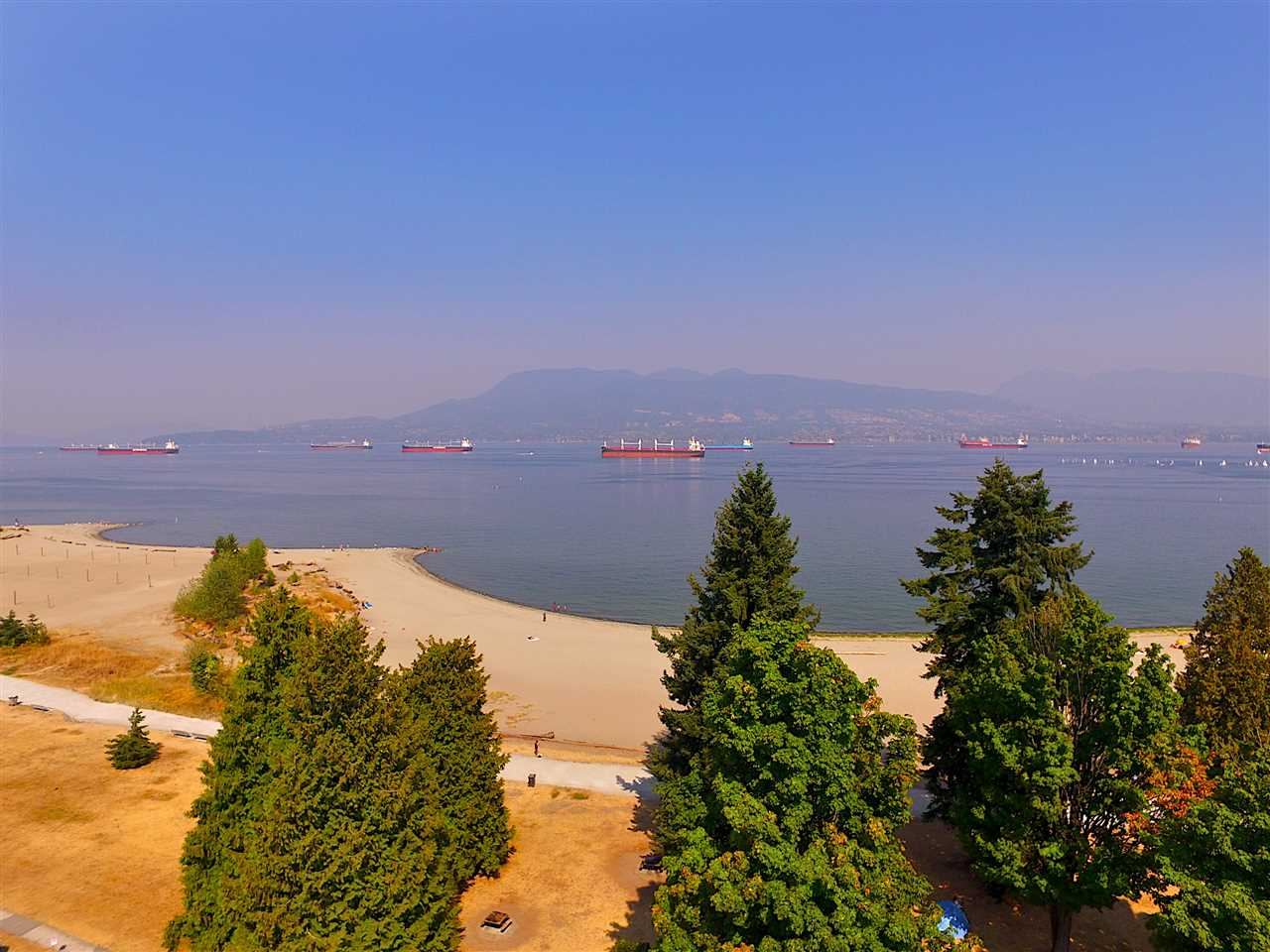 PANORAMIC WATER AND MOUNTAIN VIEWS IN PRIME POINT GREY. ONE OF THE ONLY 22 FREEHOLD BEACHFRONT PROPERTIES IN ALL OF VANCOUVER. Rare available 60 ft frontage across from the beach. This breathtaking contemporary 2017 renovated home features exceptional luxury: dynamic of spatial and graphic design by Evoke, fully Resort-Style landscaping, and amazing work and top materials make the home ultimate. Great features include custom designed millwork, radiant heating, floating stairs, Hunter Douglas automated blinds, metal roof, Alaskan Yellow Cedar shingles, control 4 system... Steps to beach, forest. Close to BC's top schools: WPGA, Lord Byng, UBC, shopping, golf courses. TRULY ELEGANT AND TIMELESS MASTERPIECE! Open House Sun Oct. 22th  between 2-4pm