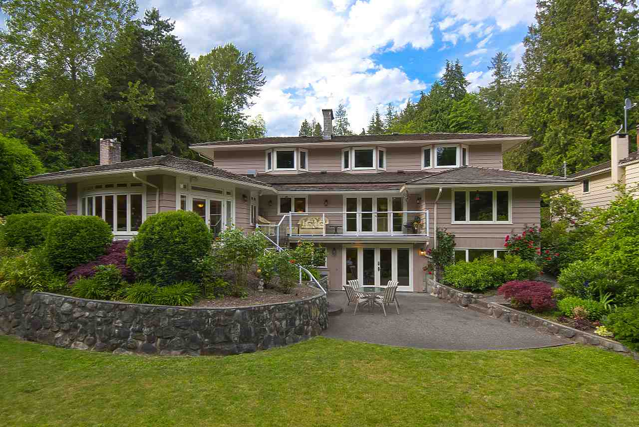 GREAT FAMILY HOME on BEAUTIFUL 23,000 sq ft PROPERTY! It is RARE to find A PROPERTY OF THIS SIZE & BEAUTY IN AMBLESIDE/DUNDARAVE! Private. Quiet. Parklike setting. Lots of natural light. 4,534 sq ft home extensively reno?d in 2002. Generous room sizes. 6 bdrms/6 baths. Fabulous gourmet kitchen w/family room overlooking this exceptional property w/level lawn, patios, deck & mature gardens. Bsmt daylights out w/sep entrance. Lovely all season McDonald Creek West enhances the beauty & ambiance of this .53 acre property. 10,000+ buildable sq ft outright w/out dealing w/environmental. Attractive footprint beyond creek setback requirements. Estate size property development potential. Great topography. YOU MUST SEE THIS PROPERTY TO APPRECIATE HOW BEAUTIFUL IT IS! INCREDIBLE VALUE AT THIS PRICE!