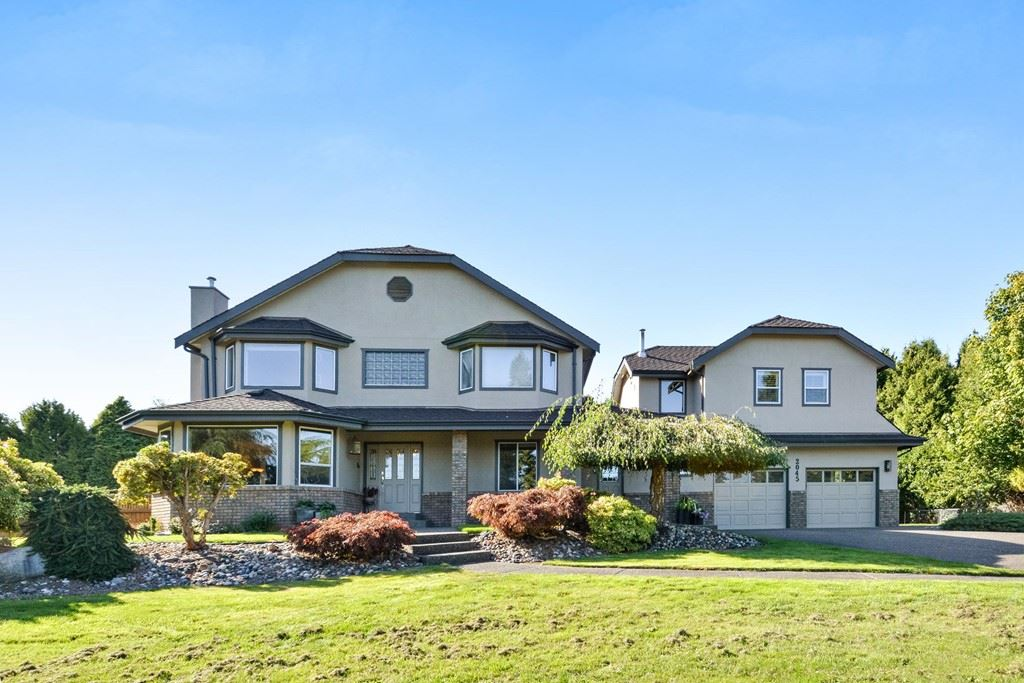 Perfect location- Executive family home situated on private 1.09 acre cul-de-sac with views of Mt.Baker, Hazelmere Valley just steps to Redwood Park. Meticulously cared for home offering over 3900 sq.ft. of living space. living/dining rm; 5 bdrms,3 full baths, famrm , den plus media/rec room. Exterior updates in 2017;new roof/gutters, paint, video surveillance system; in-ground sprinklers, new pool boiler with solar heating RI. Renovated interior includes new flooring; main floor bath; newer appliances including s/s gas cooktop; built in convection oven. Family room features gas f/p. Separate insulated & heated pool house. Entertain guests on 39 x 28 ft cedar deck with hot tub, gas BBQ, gated in ground (44x18)heated pool. Large fenced back yard with mature trees ensures privacy.