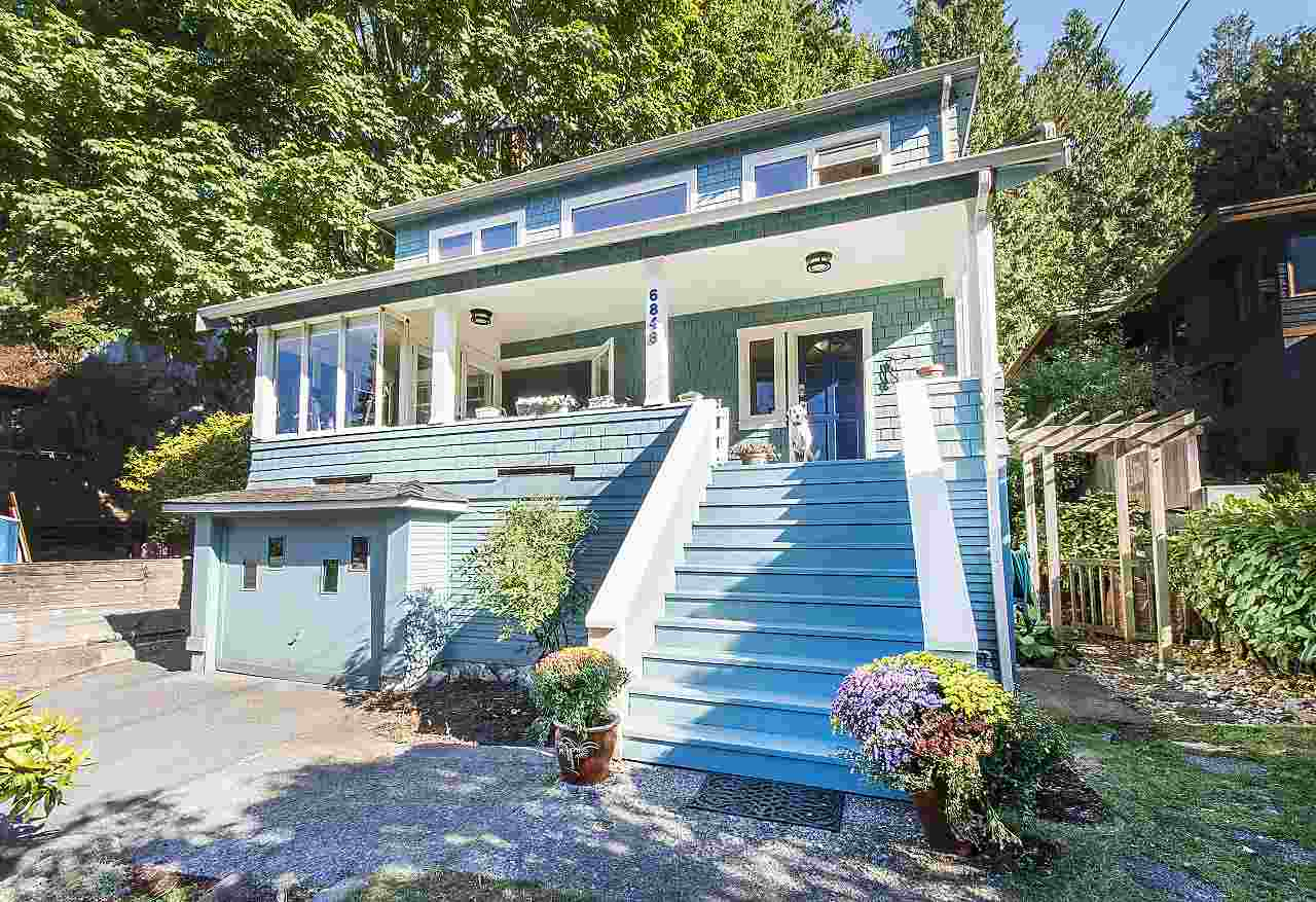 Charming and light-filled character home with VIEWS on the incomparable Copper Cove Road!  Lovely updates throughout with the wonderful original elements maintained.  Fir windows, fireplace, gleaming hardwood floors, sunny eat-in kitchen with walk-out patio and gardens, generous front porch and tons of storage throughout.  Separate entry walk-out suite with 1 bedroom and den below makes a great mortgage helper or guest suite.  Perfect for families or anyone looking to make the vibrant Horseshoe Bay area home.  Ocean and beach at your doorstep with a lovely short stroll to Whytecliffe Park or all the wonderful dining and shopping in Horseshoe Bay.  Seeing is believing!