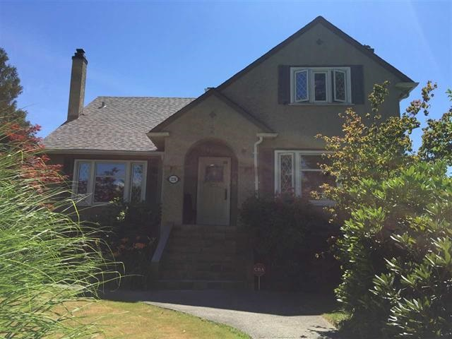 Beautiful renovated Shaughnessy home with spacious principal rooms and tasteful master bedroom with en-suite on the main floor. Open gourmet kitchen with updated cabinetry and appliances opens to large deck and patio areas in the Beautiful back garden. Upper floor offers two large bedrooms, and 4 piece bath with elegant classic claw foot tub. Wainscotting, dentil molding, designer lighting, hardwood flooring and more throughout this exquisite home. The lower level which is walk out to the backyard has 2 bedrooms, a second laundry, large living room with a wet bar, nice kitchen and utility area.