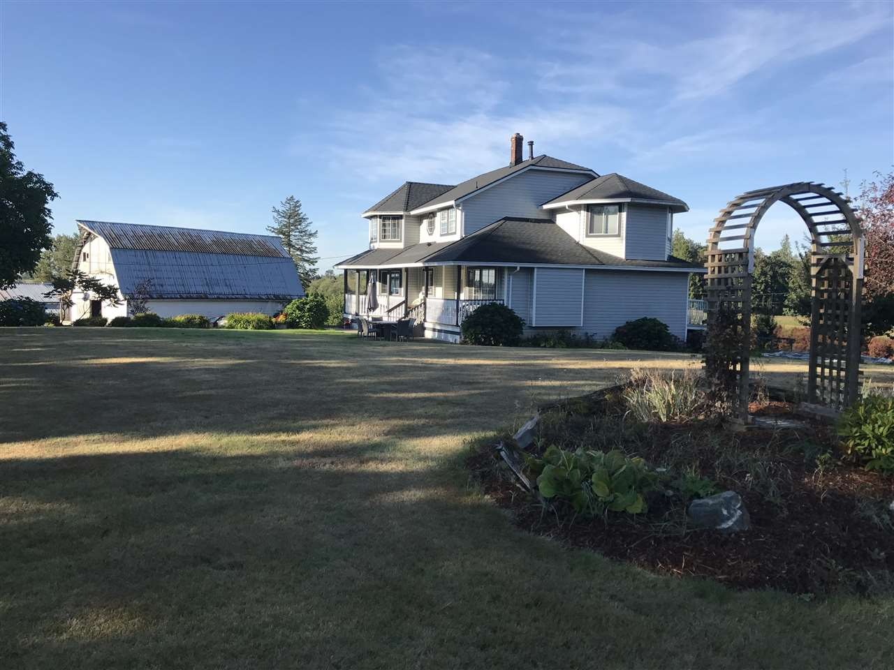 First time on the market in approx 50 years. This beautiful, rolling 34.67 acres features 2 homes plus a 1 bdrm Park model that can be negotiated with the purchase. The main home is perched high on the northeast corner with great views over the farmland. One home is a 1 bdrm/1bath bungalow. 32'x160' workshop and two former chicken barns (40'x200' doubledeck and 40'x60' doubledeck). Lots of quality water from the well. Check out the video for the overhead views.