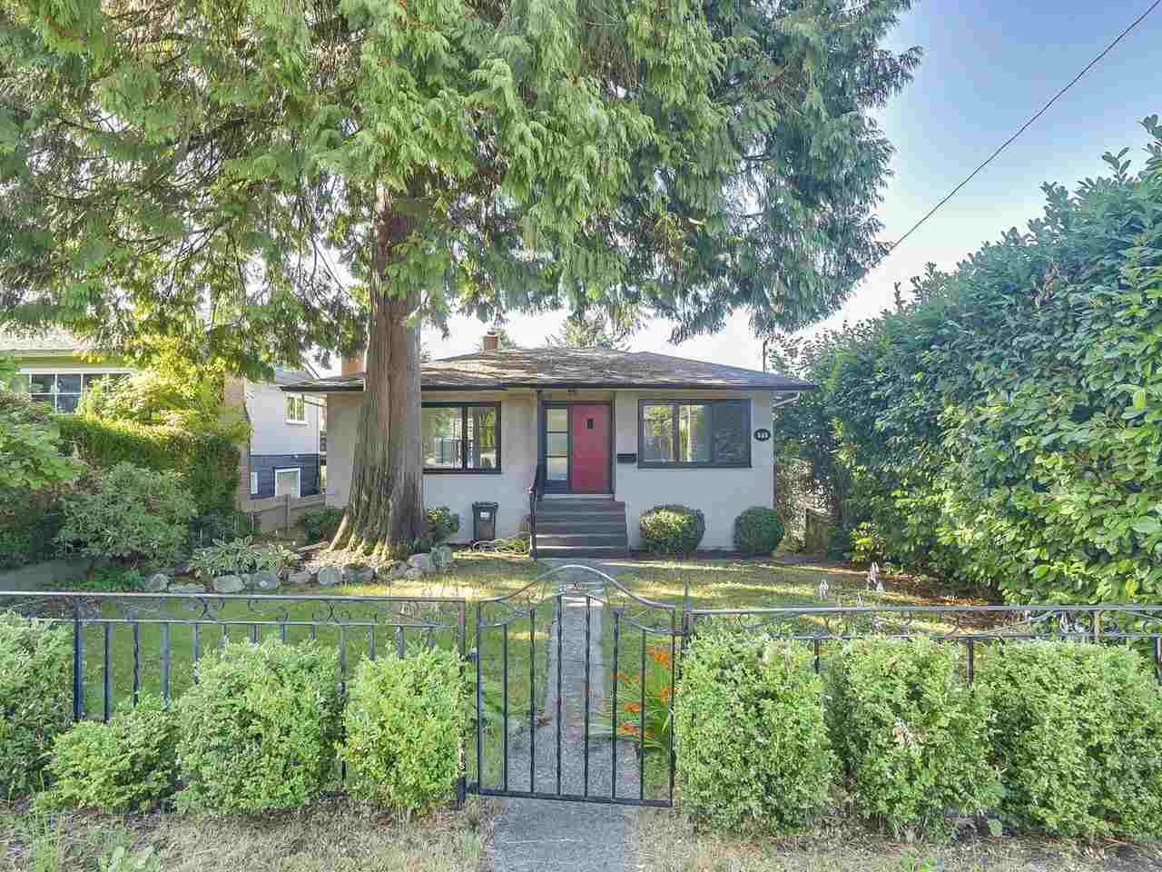 Charming bungalow with basement on a 50 X 122 foot lot centrally located in one of North Vancouver's most prestigious areas. Peekaboo city views from the back deck and mountain views from the front. Large grassy backyard with driveway and carport with lots of room for parking and potential room for a laneway house. Walking distance from the shops at Edgemont Village, the new Delbrook Community Centre and lots of recreation nearby. Basement has potential to build a suite or use as a workshop. The large sunny deck has been updated in 2017. Lots of options to use this home as a starter home, renovate, or land to redevelop.