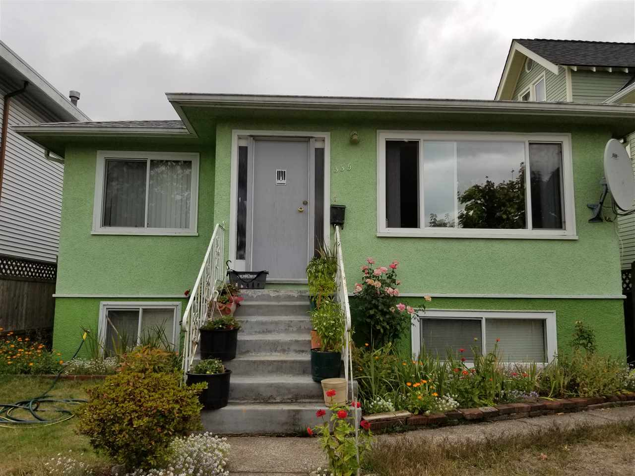 Excellent central South Vancouver location. Hold now with solid home w/ 3 bdrms up & 3 bdrms down and build your dream home later. South-facing, flat, square lot with a detached garage and back lane. Quiet neighbourhood with lots of new houses and close to school, bus, shopping and parks.
