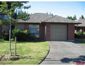 Sweet one level 2 bdrm. 2 bath rancher with cozy gas fireplace. private rear yard with large covered patio, backs to park/green space.. Extra long single garage, provides storage or work space. Walk to Semiahmoo Mall and Community Centre. Very central.  Tenanted on Lease till end of July 2018. Just off Southmere Crescent near 150th OPEN HOUSE SAT OCT 21st 2-4 PM
