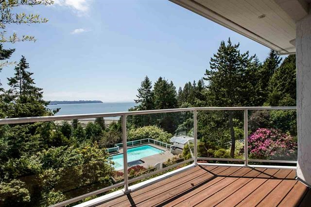 Whole house has just been renovated! One of a kind home (143.67 x 249 lot) sits on Cypress Area, ocean views to Vancouver Island. Walking distance to Stearman Beach. Original leaded wood windows, oak inlaid floors, light fixture & tiled featured fireplace. The home offers approx. 3800 SF on 3 spec levels with 4 bedrooms. Features a completely remodelled large gourmet kitchen & stunning master suite w/ private study, a sensational ensuite bath. Basement with 1 bedroom and a wine room ideal for wine lover. Good school catchments.