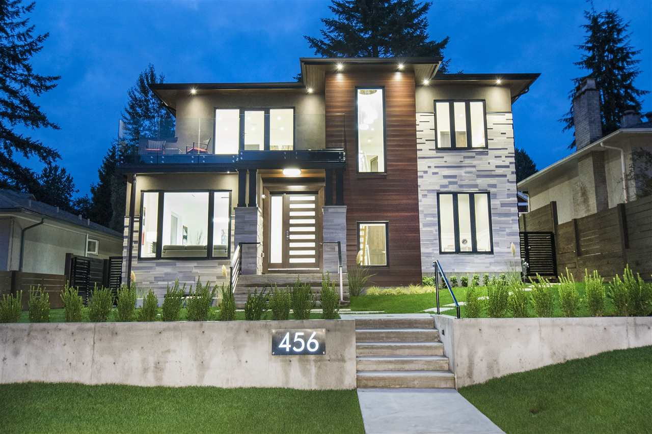 Situated in one of the most desirable areas of North Vancouver, sits a new 5 bedroom, 5.5 bathroom custom home. Close to all shops, restaurants and amenities including the newly constructed William Griffin Community center, this home is a perfect family home being in the Balmoral and Larson school catchments. 4 bedrooms on the upper floor, all with ensuites and a lavish master complete with a walk-in-closet and a 5 piece ensuite. The dream kitchen boasts Miele appliances and custom maple cabinets. The lower level is complete with a lavish bar and dedicated movie theater. In addition to being an entertainers dream, the lower level also has the option of having a one bedroom, separate entrance suite. Homes of this magnitude do not last long.