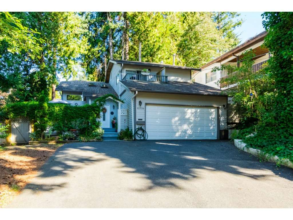 """West Coast Contemporary home in Ocean Park Village! Features include vaulted ceiling with skylights, freshly painted, new dove grey wide plank floors throughout, spacious living room with gas fireplace. Three spacious bedrooms with 2 & 1/2 baths. Private backyard with mature trees and BBQ sundeck. Attached double garage with lots of parking in driveway for guests. Private, enclosed southern exposure front sundeck. Close to transit, shopping, library, restaurants & beach. Scenic 14 acre waterfront naturalist park with hiking trails and fields, """"1001 steps"""" to the ocean and the brand new Fun Fun Park are all only one block away. Ocean Cliff & Elgin Secondary catchment. A pleasure to show!!! Open House, Saturday, October 14, 2017, 2-4 p.m."""