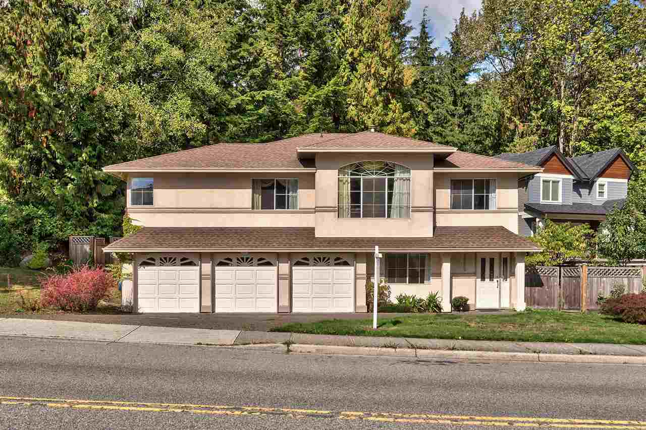 Perfect family home in desirable Hockaday area of Coquitlam. Well maintained, huge 3 car-garage, level lot, 1 bed suite; your search is finally over! This 6bed/3bath/2lvl/2691sqft home sits on a level 6000sqft fenced lot backing onto a lush forest backdrop. Main level features expansive windows, laminate floors, spacious living & dinning rooms, large kitchen w/SS apps & eating area & perfectly sized BBQ deck. The large master w/walkin & ensuite, 3 well sized rooms & 4pc bath complete this level. Down: 1 bed for main living, laundry area, garage access & bright, large, above ground suite w/separate ent.  Bonus: freshly painted throughout main home, new blinds, 5yr young roof & 1yr young fence. Act Now! OPEN HOUSE Sat. Nov. 18 2 to 4 pm.