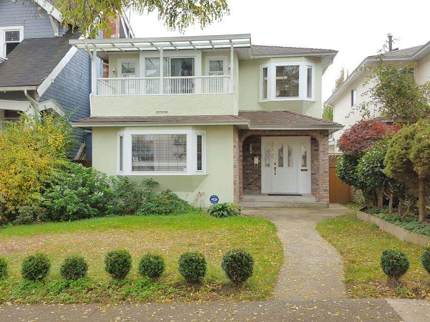 EXCELLENT PRICE FOR INVESTOR OR BUILDER. Beautifully renovated home in POINT GREY location. Over 2250 sq.ft. steps away from WEST POINT GREY ACADEMY, CLOSE TO LORD BYNG HIGH SCHOOL, QUEEN MARY ELEMENTARY, ST. GEORGE'S & UBC. BEACH, SHOPPING, & BUSES. Features high ceiling foyer with Skylight Windows. EXCELLENT floor plan, 5 bedrooms, 3 baths, LARGE GOURMET KITCHEN WITH NEW KITCHEN CABINETRY, S/S APPLIANCES, BATHROOM, HARDWOOD FLOORS, CARPETS & ROOF. Private fenced backyard with SOUTHERN EXPOSURE. MUST SEE!