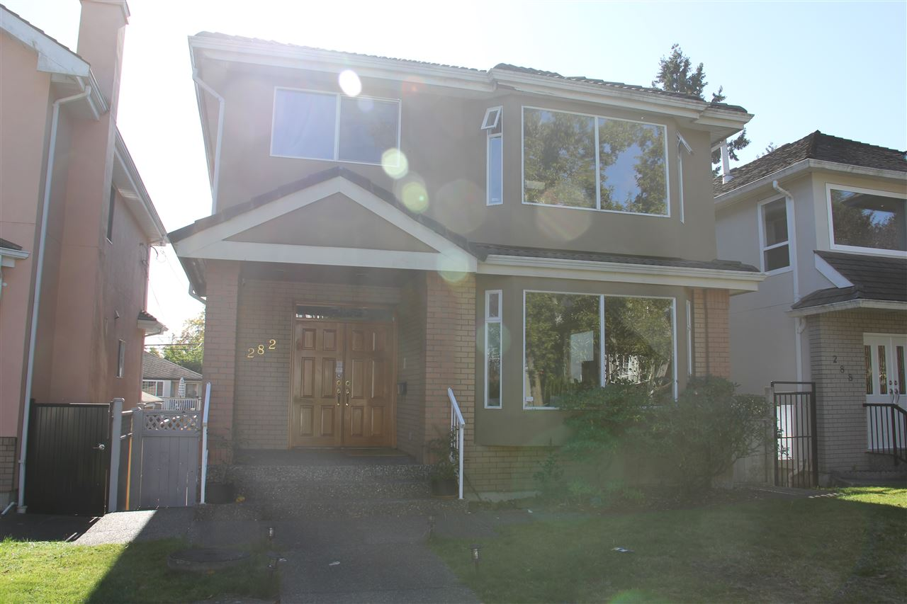 Magnificent custom built home in the prime Oakridge location with walking distance to park and golf course, Langara College, Churchill Secondary, YMCA Recreation Centre, upscale Oakridge Mall and the new RAV Line station. Excellent floor plan boasts 5 bedrooms and 5 bathrooms, entertainment size living and dining areas, spacious family room off functional kitchen and the eating area. Quality features include radiant heat, air conditioning, gas fireplace, hardwood floor, crown mouldings, granite countertops, tile roof, new high efficiency boiler, and freshly painted exterior and interior with designer colours throughout. Truly a quality home that offers excellent value and not to be missed! Call for appointment