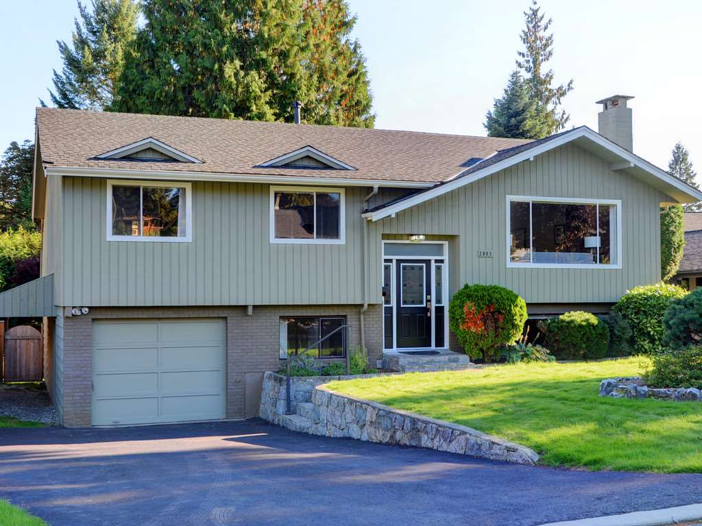 Cul-de-sac setting in highly sought after Blueridge. This 4 bedroom well maintained family home is situated on a beautiful flat South facing 9400 SF lot, the perfect  setting for the buyer who values a quiet and private lifestyle.  This well kept home offers 3 bedroom up, 2 bathrooms, open plan kitchen with new S/S appliances, upgraded H/W flooring, roof & high efficiency furnace. The walk out lower floor is bright and would make for an easy suite conversion. This lovely home is perfect for families as it is within walking distance to both elementary and secondary schools plus the many parks & playgrounds Blueridge has to offer. Open House Sat/Sun Nov 18/19 2-4PM.