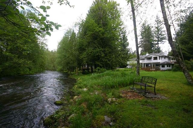 200 ft of LOW BANK Waterfront Greenbelt on South Alouette River. Solid 3 BR Rancher with large daylight walkout basement and many decks with truly spectacular views. Oversize garage/shop with RV, Boat and many vehicle parking on landscaped 2/3 Acre lot with easy gentle access into the water. Cranes, ducks, deer and 12 lb Steelhead catches are reality here. Amazing up close river views from eat-in kitchen, living room, master BR. New solid Birch hardwood through most of main floor. 3 Fireplaces, sunken living room with vaulted ceiling. Not just a home but a lifestyle property. This is one of a kind with Location, Location, Location. See Full Home Walkthrough Video in Online Tour for more details.